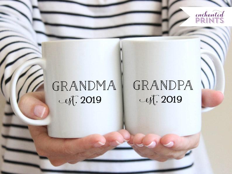 Personalized Grandma Grandpa Mugs Grandparent Mugs New image 0