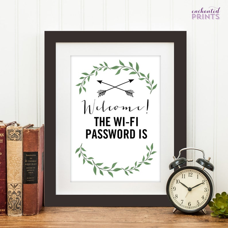 Customized Welcome Wifi Password PrintableWifi Password image 0