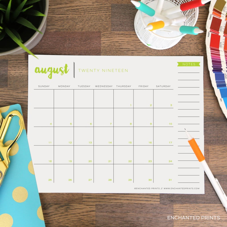 Printable 2019-2020 Academic Calendar  16 Month Calendar  image 0