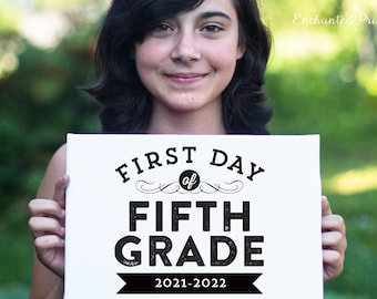First Day of School Sign, First Day Photo - Preschool, Pre-K, Grades 1-12- Back to School, School Photo Prop, Photo Prop - Instant Download