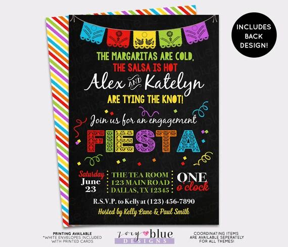 4d420480e4b5 Fiesta Engagement Party Invitation Bridal Shower Invitation Papel Picado  Mexican Fiesta Printable Couples Shower Fiesta - Digital File