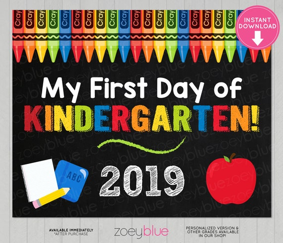 Personnalisé My First Day at School Box Cadre Photo Coeur crayons étoiles Cadeau 1st