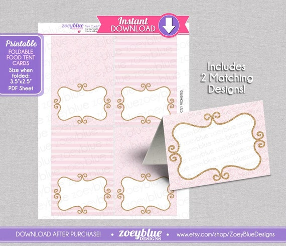 photograph regarding Printable Tent Cards identify Purple Gold Princess Blank Foodstuff Tent Playing cards Female Glitter Birthday Buffet Tags Reputation Location Playing cards Foldable Printable Electronic Document Quick Obtain