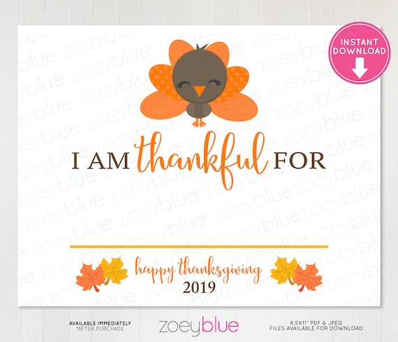photograph relating to Printable Thanksgiving Craft titled Grateful Indication 2019 - Thanksgiving Photograph Booth Prop