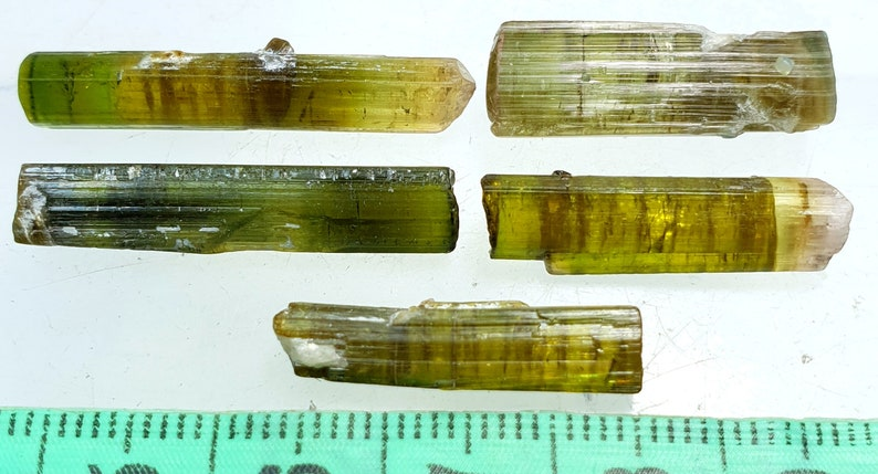 41 Carats Beautiful Green Color Tourmaline Crystal Type Very Nice Quality from Afghanistan