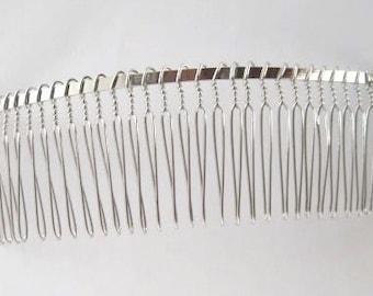 Metal veil  comb 30 teeth - silver