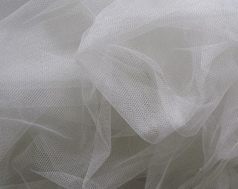 Soft English net - 3m wide- 118 inches wide - pure white, soft white, ivory, nude,black - sold by the yard
