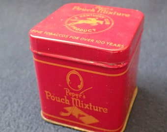 Peper's Pouch Mixture A Kentucky Club Tobacco Tin