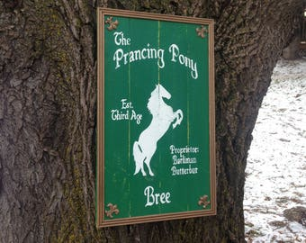 The Prancing Pony Inn Sign  - Lord of the Rings & The Hobbit - Made to Order