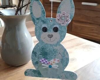 Osterhasen zum aufhängen, Hanging Ester Bunny, Fensterbilder Osterdekoration Oster Deko Tonkarton handmade Easter Rabbit