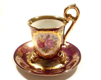 Antike chinesische Mocca Tasse, antique chinese Porcelain Mug, Porzellan Ohashi 1932 Mocha Cup, Porzellantasse