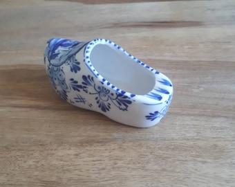 Holländischer Keramik Schuh Aschenbecher, Vintage Dutch Ceramic Shoe, Niederländischer Holzschuh Windmühlen,Souvenier Holland, Ashtray