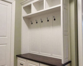 Superbe THE VIRGINIA Mudroom Lockers Bench Storage Furniture Cubbies Hall Tree Wide  Coat Rack Farmhouse