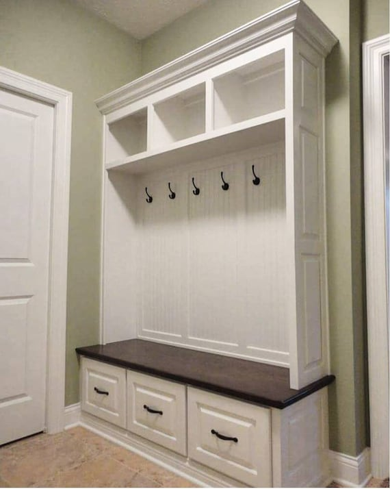 Magnificent The Virginia Mudroom Lockers Bench Storage Furniture Cubbies Hall Tree Wide Coat Rack Farmhouse Machost Co Dining Chair Design Ideas Machostcouk