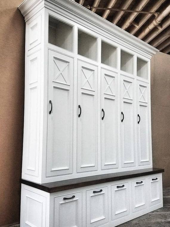 Mudroom Storage Uk : The asheville mudroom lockers storage bench cubbies