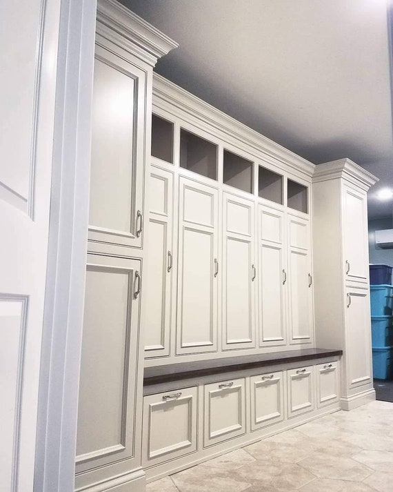 The Georgia Deluxe Mudroom Lockers Bench Storage Furniture Cubbies Coat Rack Hall Tree