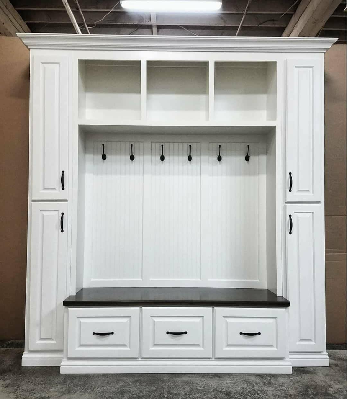 The Philadelphia Mudroom Lockers Bench Storage Furniture