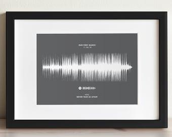 Personalised Sound Wave Print, Song Soundwave Poster, Framed Personalized Voice Waveform Art, Sound Wave Art Digital Download, Music