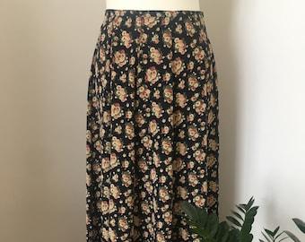 90s Midi/Maxi Skirt / Next / 90s / Floral / Ditsy / Grunge/ UK Size 12