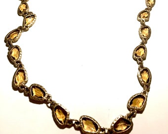 Smoky Topaz and Matte Gold Long Chico's New Necklace