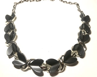 Grey Moonglow Thermoset Lucite Necklace Mid Century