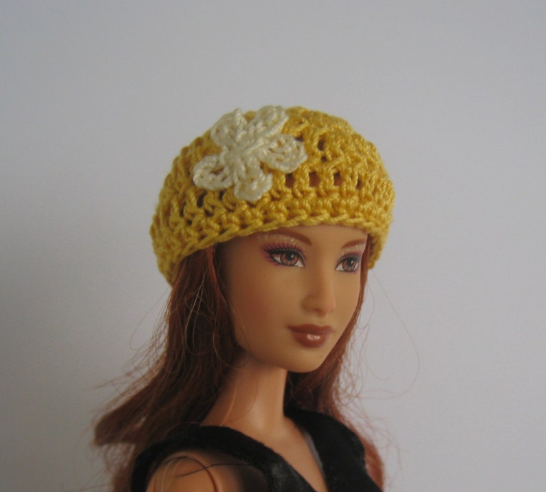 59bb4b692a4 Fashion doll clothes Beanie hat for Barbie or fashion doll