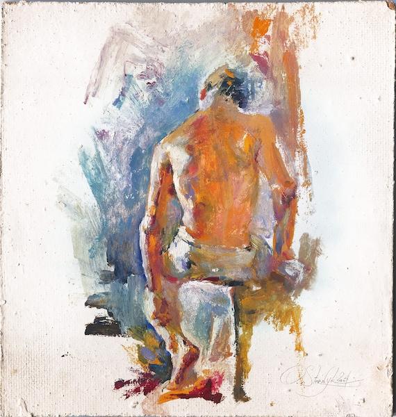 Male Model Painting Human Figure Oil Fine Art