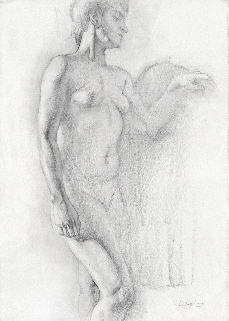 Woman back drawing