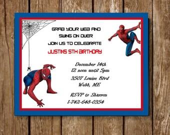 Spiderman Birthday Invite