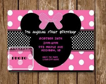Minnie Mouse Personalized Invitation