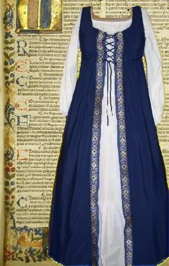 Medieval Gown Renaissance Costume SCA Garb Front-Lacing Irish | Etsy