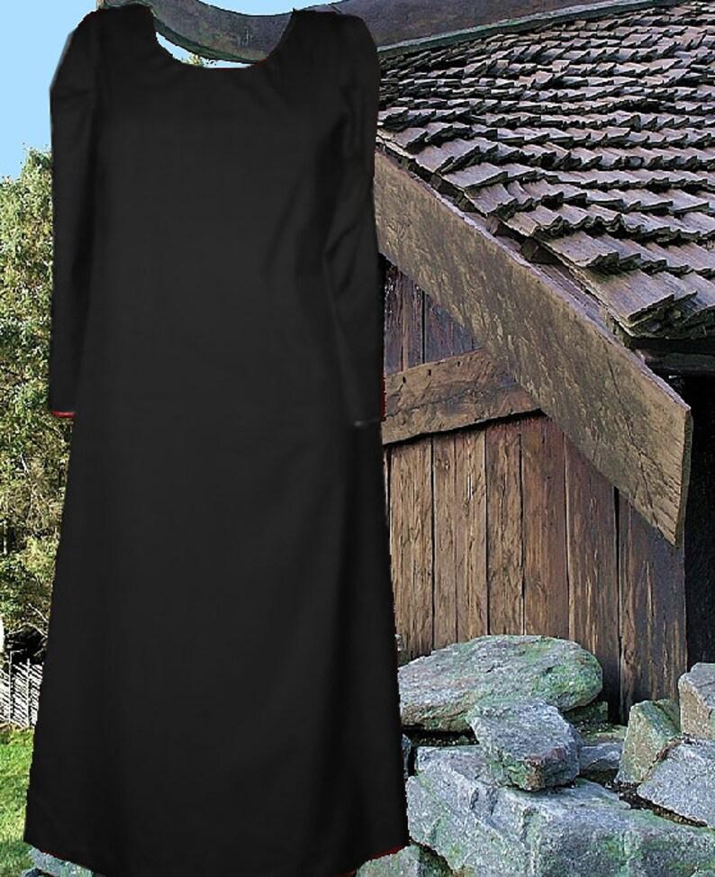 Renaissance Dress Medieval Kirtle SCA Garb Color Choice Cotton Surcote  Norse lxl FREE SHIP