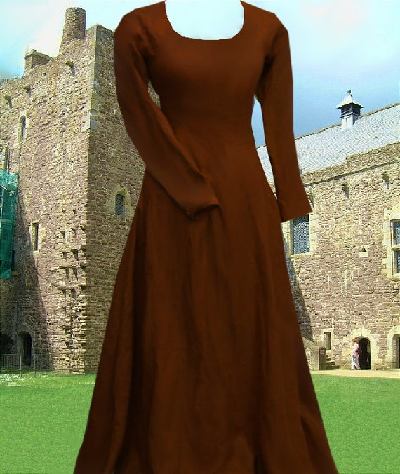 Renaissance Costume Medieval Gown 6 Gore Kirtle SCA Garb Choice Colored  Cotton lxl FREE SHIP