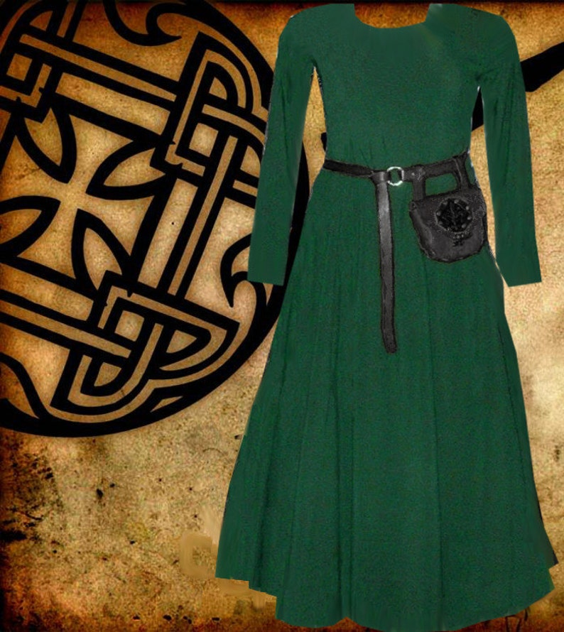 Renaissance Dress Medieval Costume 6 Gore Kirtle SCA Garb Choice Colored  Cotton lxl FREE SHIP
