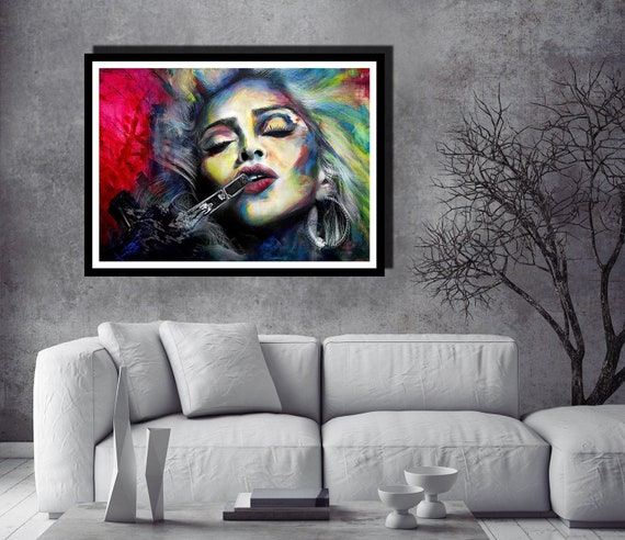 Modern Abstract Indian Woman Colourful Canvas Wall Art Picture Print A0 A1
