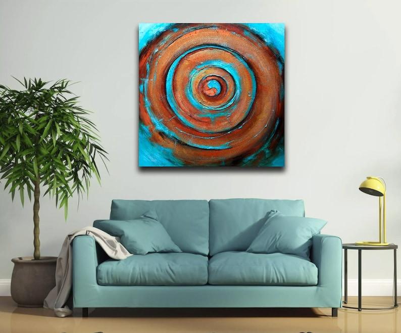 Kunst schilderij abstract acryl iing jang moderne eigentijdse etsy