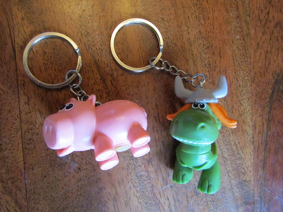 Toy Story Repurposed Mini Toy Figure Key Chain Rex T Rex