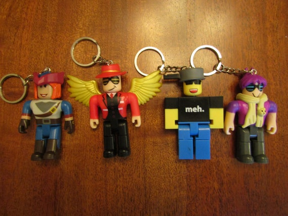 Roblox Mystery Box Figures Repurposed Into Key Chain Back Pack Etsy
