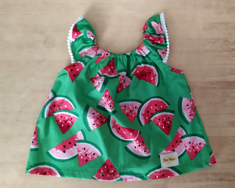 baby girl gift baby shower gift Watermelon baby set clothes green and red watermelon cotton baby clothes summer baby clothes