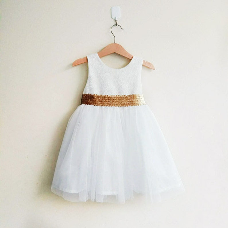 7d37f596025 Ivory flower girl dress Gold flower girl dresses tutu girl