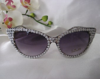 36d5dadb3836 Bling Cat Eye Sunglasses Splash Design