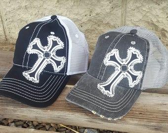 Bling Cross Hats 8889bf136014