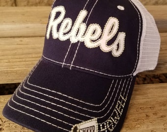 new product 02a7c 39b3d Cheer Mom Hat, Rebels Cheer Hat, Cheer Team Hats, Baseball Mom Hat, Rebels  Baseball Hat, Custom Logo Hats, Custom Team Hats for all sports!