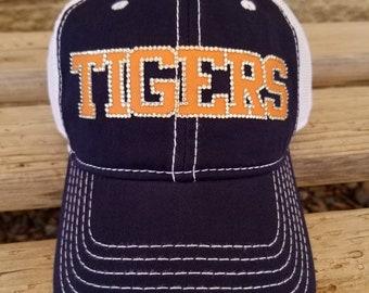 f16ee769b2796d Tigers baseball team hat, Bling Baseball Mom Hats, Custom Baseball and  Football Hats, Custom Team Hats