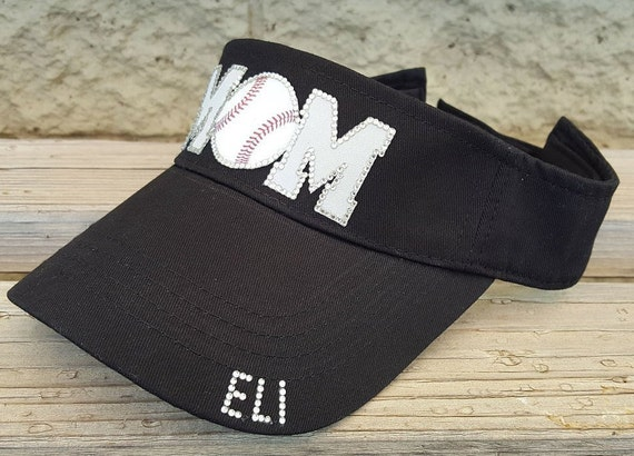 b544592ca48 Bling Baseball Mom Hat Visor Sports Mom Visors MOM Hats
