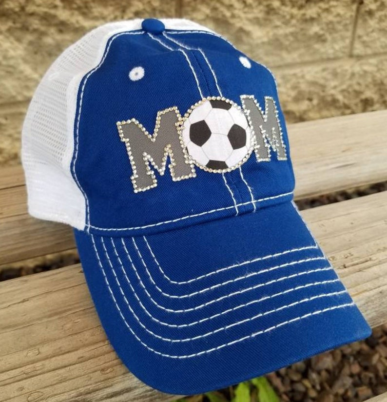 490511cf028 Soccer Mom Hat Bling Soccer Hats Soccer team hats Hats for