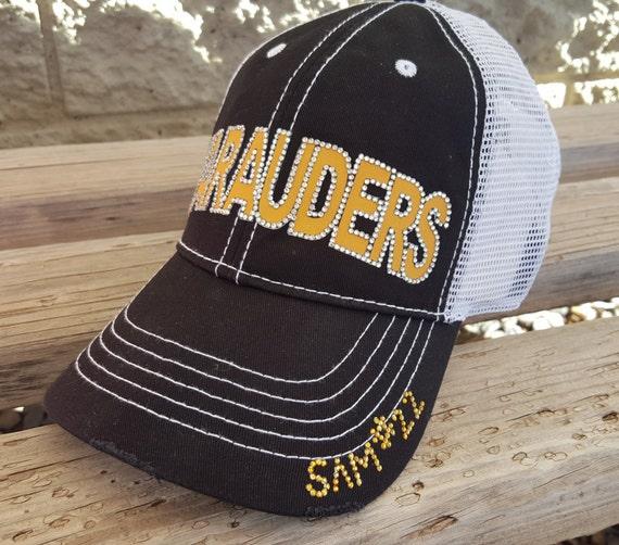 09cafb0fef56f Football Mom Hat Bling Team Hats Custom Team Hats