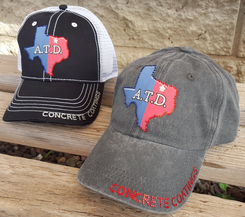9877c8d9111fa Company Hats with your Business Logo or name Women Bling