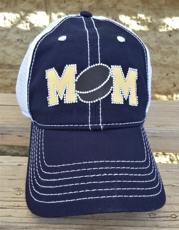 1aa46f6a3af Hockey MOM Hat Bling Hockey MOM Trucker Caps