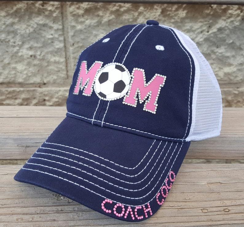 f22bfe5b1d5 Soccer Hat Rhinestone Soccer Mom Hat Soccer Mom trucker hat